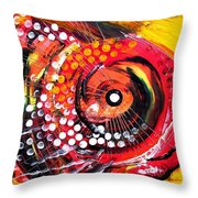 Abstract Lion Fish Throw Pillow