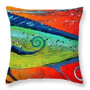 Abstract Mahi Mahi Throw Pillow