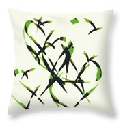 Abstract On Acrylic Throw Pillow