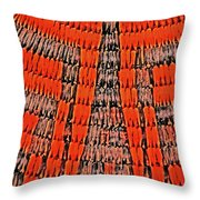 Abstract Oranges Blacks Browns Yellows Rows Columns Angles 3152019 5476 Throw Pillow