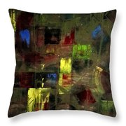 Abstract Patchwork Throw Pillow
