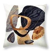 Abstract Pebbles IIi Throw Pillow