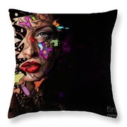 Abstract Portrait No 12 Throw Pillow