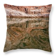 Abstract Reflections On Lake Powell Throw Pillow