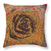 Abstract Rose 745 Throw Pillow