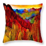 Abstract Scenic 3 Throw Pillow
