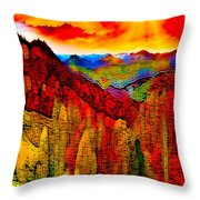 Abstract Scenic 3a Throw Pillow