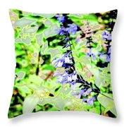 Abstract Summer Garden Throw Pillow