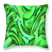 Abstract Waves Painting 0010075 Throw Pillow