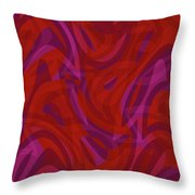 Abstract Waves Painting 0010080 Throw Pillow
