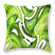Abstract Waves Painting 0010081 Throw Pillow