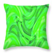 Abstract Waves Painting 0010082 Throw Pillow