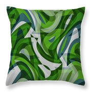 Abstract Waves Painting 0010087 Throw Pillow