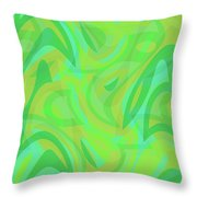 Abstract Waves Painting 0010089 Throw Pillow