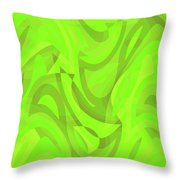Abstract Waves Painting 0010093 Throw Pillow