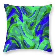 Abstract Waves Painting 0010094 Throw Pillow