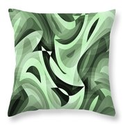 Abstract Waves Painting 0010095 Throw Pillow