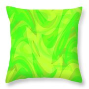 Abstract Waves Painting 0010099 Throw Pillow