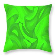 Abstract Waves Painting 0010100 Throw Pillow