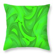 Abstract Waves Painting 0010101 Throw Pillow