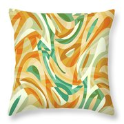 Abstract Waves Painting 0010105 Throw Pillow