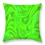 Abstract Waves Painting 0010106 Throw Pillow