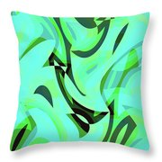Abstract Waves Painting 0010107 Throw Pillow