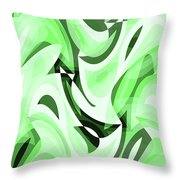 Abstract Waves Painting 0010108 Throw Pillow