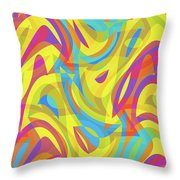 Abstract Waves Painting 0010109 Throw Pillow