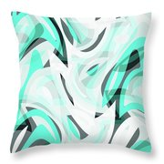 Abstract Waves Painting 0010111 Throw Pillow