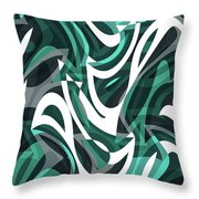 Abstract Waves Painting 0010112 Throw Pillow