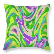 Abstract Waves Painting 0010113 Throw Pillow