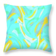 Abstract Waves Painting 0010114 Throw Pillow