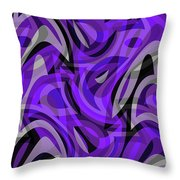 Abstract Waves Painting 0010115 Throw Pillow