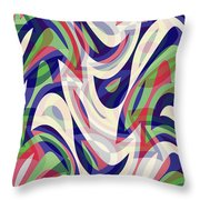 Abstract Waves Painting 0010118 Throw Pillow