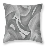 Abstract Waves Painting 0010119 Throw Pillow