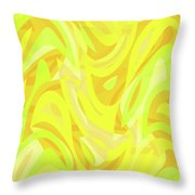 Abstract Waves Painting 0010121 Throw Pillow
