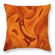 Abstract Waves Painting 001451 Throw Pillow