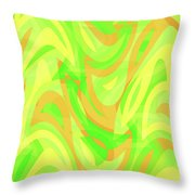 Abstract Waves Painting 007178 Throw Pillow