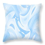 Abstract Waves Painting 007182 Throw Pillow