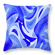 Abstract Waves Painting 007183 Throw Pillow