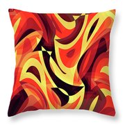 Abstract Waves Painting 007185 Throw Pillow