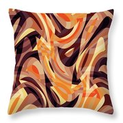 Abstract Waves Painting 007187 Throw Pillow