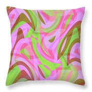 Abstract Waves Painting 007188 Throw Pillow