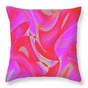 Abstract Waves Painting 007190 Throw Pillow