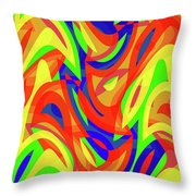 Abstract Waves Painting 007192 Throw Pillow