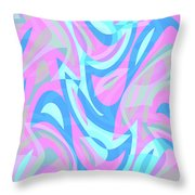 Abstract Waves Painting 007197 Throw Pillow