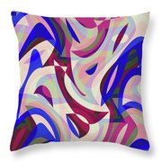 Abstract Waves Painting 007199 Throw Pillow