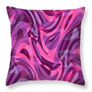 Abstract Waves Painting 007200 Throw Pillow
