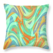 Abstract Waves Painting 007202 Throw Pillow